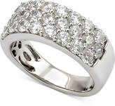 Marchesa Certified Diamond Three-Row Band (2 ct. t.w.) in 18k White Gold, Created for Macy's