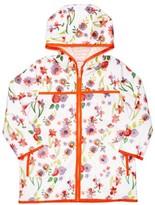 Margherita Girl's Wildflower Print Raincoat