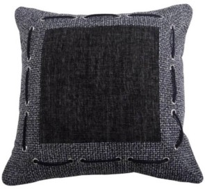 HiEnd Accents Tweed and Chenille 18x18 Pillow