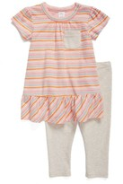 Nordstrom Infant Girl's Peplum Dress & Leggings Set