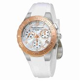 Technomarine Women's 'Cruise Medusa' Swiss Quartz Stainless Steel and Silicone Casual Watch, Color:White (Model: TM-115090)