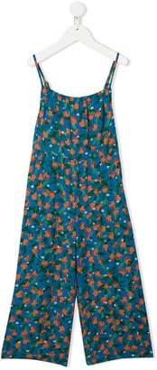 Bobo Choses spaghetti strap oranges print jumpsuit