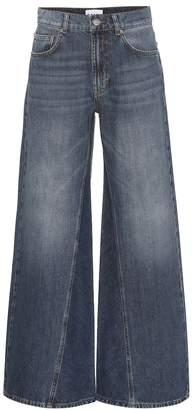 Ganni Mid-rise wide-leg jeans