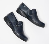 Clarks Collection Leather Slip-On Shoes - Cheyn Fame