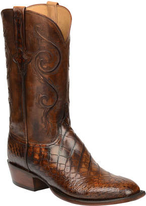 Lucchese Men's Colton Gator Leather Cowboy Boots
