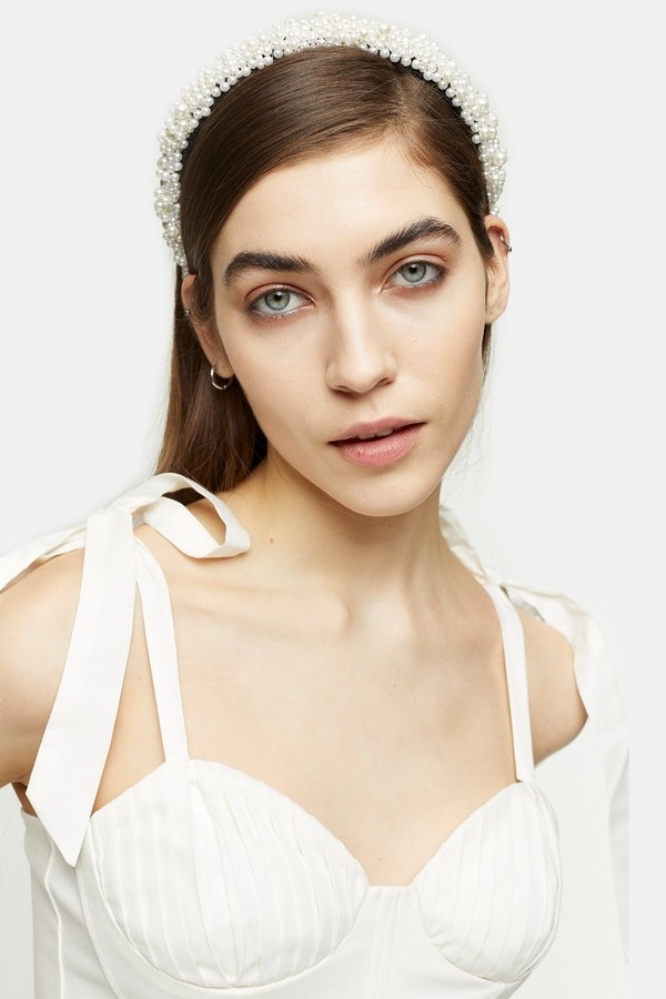 Topshop Womens Cream Tie Shoulder Crop Top - Cream