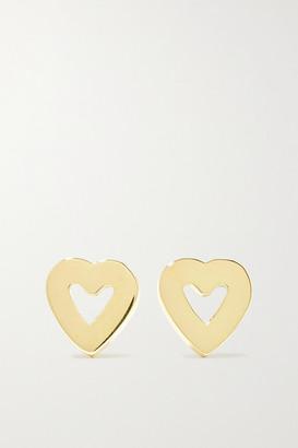 Jennifer Meyer Mini Open Heart 18-karat Gold Earrings