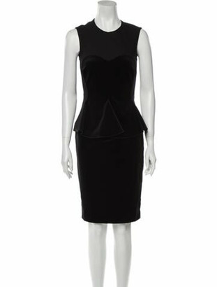 Stella McCartney Crew Neck Knee-Length Dress Black