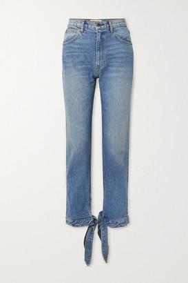 Reformation Chiara High-rise Straight-leg Jeans - Mid denim