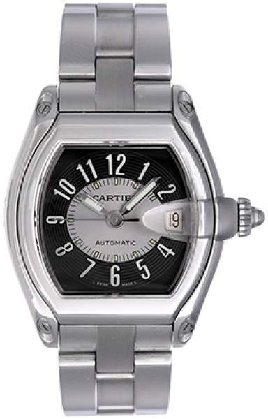 Cartier Roadster W62041V3 Stainless Steel Black Dial Automatic 38mm Men's Watch