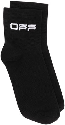Off-White Off logo socks