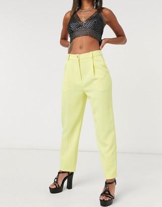 Topshop clean straight pants in lemon