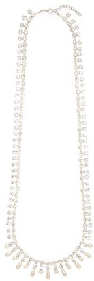 Alessandra Rich Crystal And Faux-pearl Necklace - Crystal