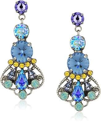 Sorrelli Womens Moonlit Shores Adorned Filigree Statement Drop Earrings