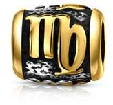 Bling Jewelry Virgo Charm Gold Plated 925 Sterling Silver Zodiac Bead.