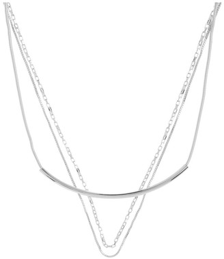 Basque Multi Chain Layered Necklace Silver