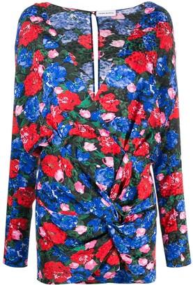 Magda Butrym Draped Floral Mini Dress