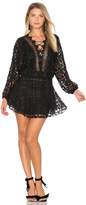 Karina Grimaldi Cicci Lace Mini Dress