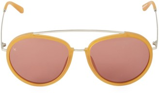 Smoke X Mirrors Viva 55MM Browline Aviator Sunglasses