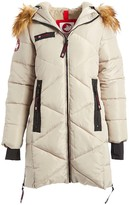 Canada Weather Gear Women's Puffer Coats Champagne - Champagne Faux Fur Quilted Puffer Jacket - Plus