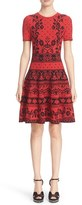 Alexander McQueen Women's Floral Jacquard Knit Fit & Flare Dress