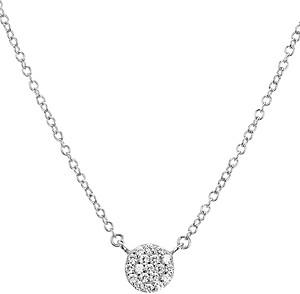 Aqua Sterling Silver Silver Circle Pendant Necklace, 16 - 100% Exclusive