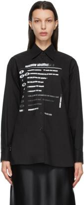 MM6 MAISON MARGIELA Black Motocross Logo Shirt