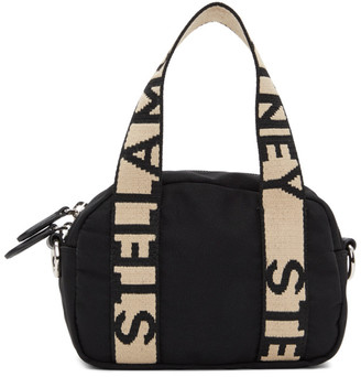 Stella McCartney Black ECONYL Small Boston Bag