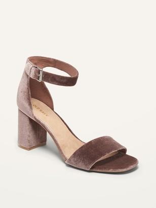 Old Navy Velvet Block-Heel Sandals for Women