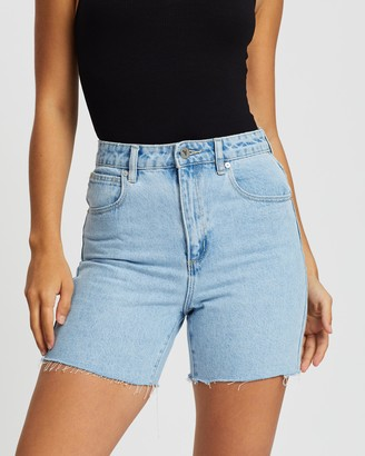 Abrand - Women's Blue Denim - A Claudia Cut Offs - Size 10 at The Iconic
