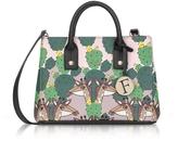 Furla Multicolor Altopiano Printed Saffiano Leather Linda Mini Tote Bag
