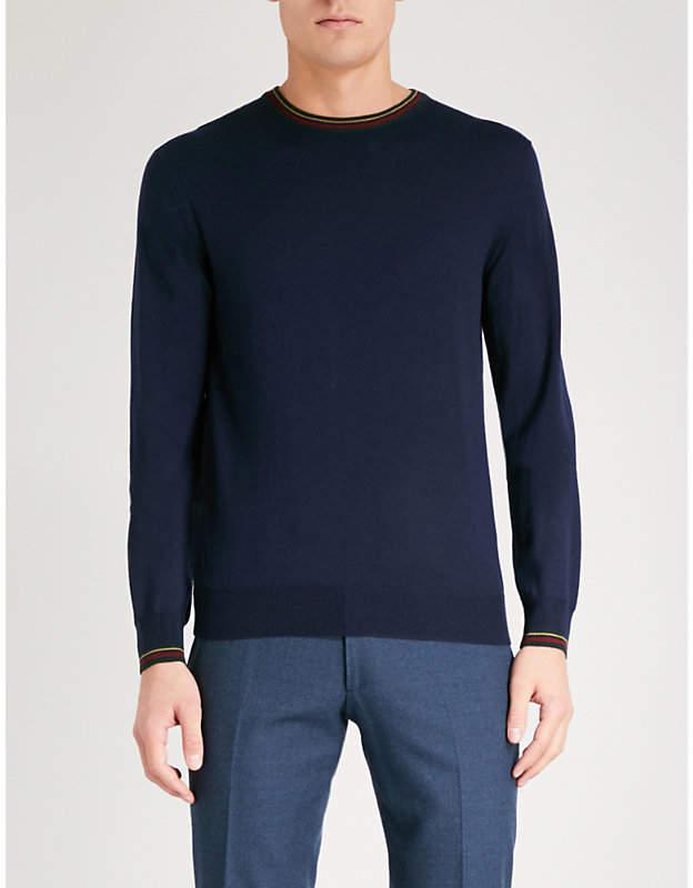 Etro Striped-trims wool jumper