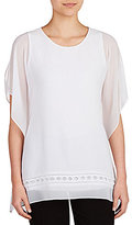 Peter Nygard Cold-Shoulder Blouse