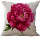 Flowers Stuffed Throw Pillow ChezMax Cotton Linen Square Pet Insert Cushion For Kid Teen Girl Boy Children Bedroom