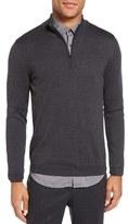 Pal Zileri Men's Quarter Zip Wool Sweater