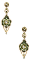 Miguel Ases Beaded Dangle Statement Earrings