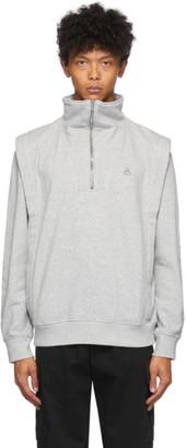 Isabel Marant Grey Manahir Half-Zip Sweatshirt