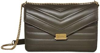 AllSaints Justine Small Crossbody (Khaki Green) Handbags