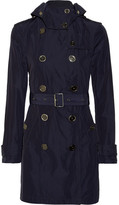 Burberry Mid-length hooded shell trench coat