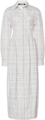 Jacquemus La Robe Valensole Checked Midi Shirt Dress