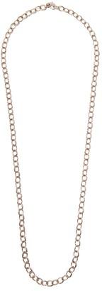 Loree Rodkin 14kt rose gold diamond medium Flinstone chain necklace