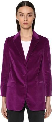 Saulina Cotton Blend Velvet Jacket