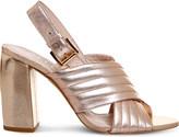 Office Americana metallic-leather sandals