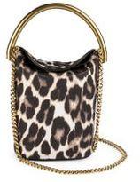 Stella McCartney Snow Leopard-Print Bucket Bag