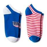 Bioworld Women's 2-Pair pk Ankle Socks - USA & Stripes One Size