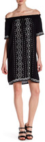 Romeo & Juliet Couture Off-the-Shoulder Woven Embroidery Dress