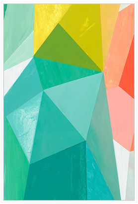 Jonathan Bass Studio Glass Vase 1, Decorative Framed Hand Embellished C