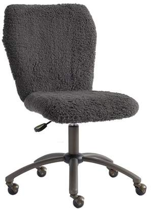 Pottery Barn Teen Charcoal Sherpa Airgo Desk Chair, Armless
