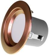 "Retrofit Nicor Lighting 4"" LED Recessed Downlight Light Fixture in Aged Copper, 4000K"
