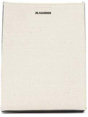 Jil Sander Tangle Small Canvas Cross-body Bag - Womens - White Multi